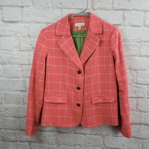 David Brooks Women's Blazer Pink Plaid size 6